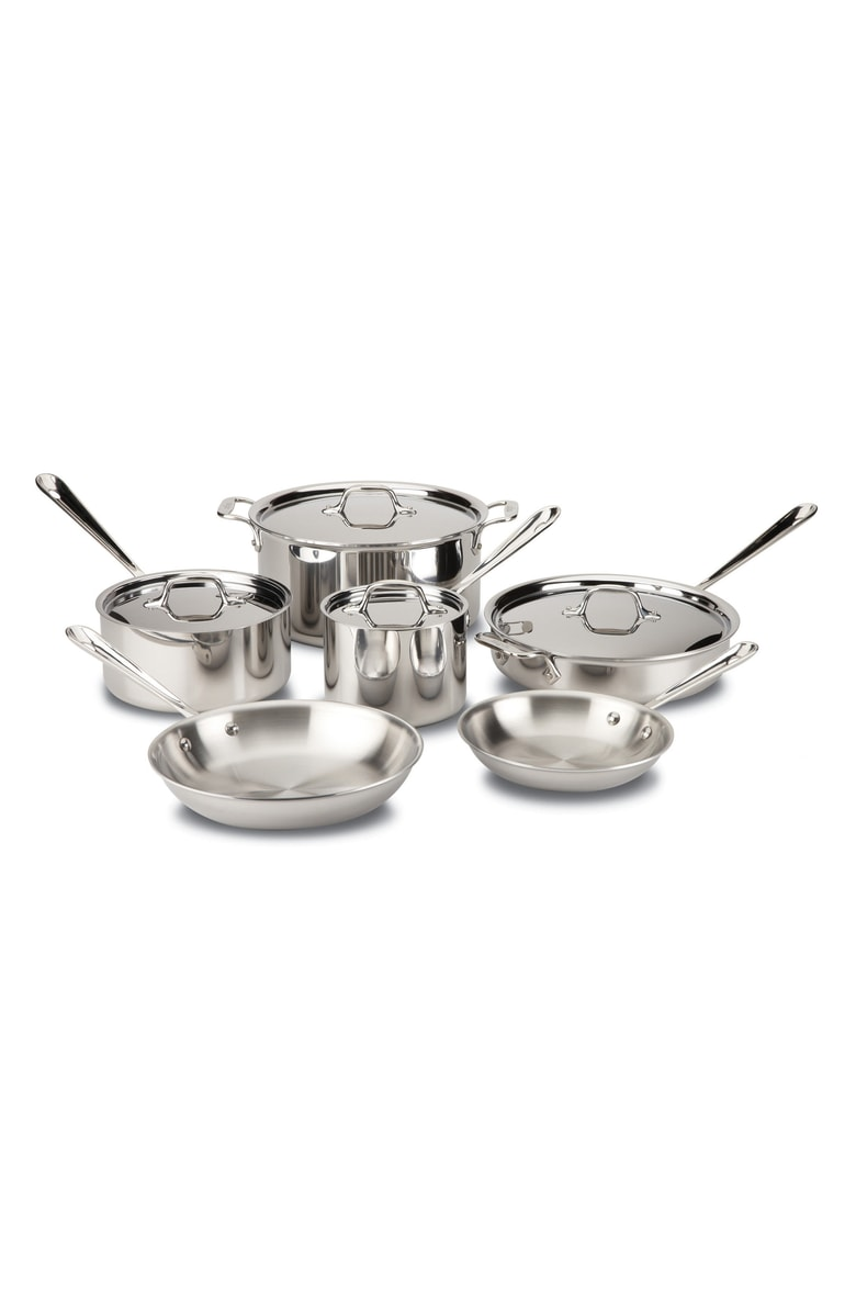 All-Clad 10-Piece Stainless Steel Cookware Set