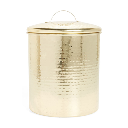 Hammered Gold Canister