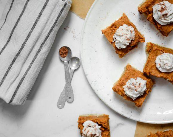 Creamy Pumpkin Pie with an Almond Cookie Crust