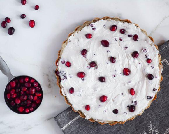Cranberry Custard Tart