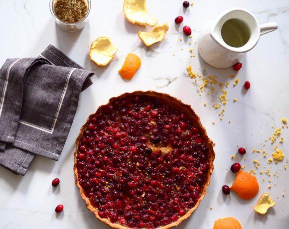 Cranberry & Macadamia Nut Tart