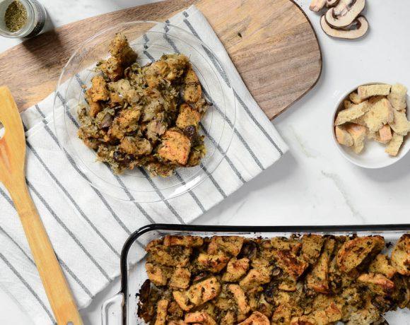 Savory Mushroom & White Wine Stuffing